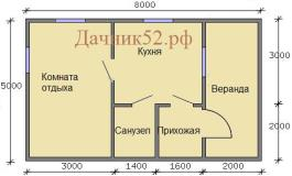 План дома 5 х 8 Прима 8