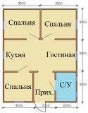 План дома 7х9 Вариант 1