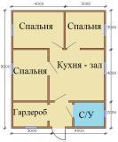 План дома 7х9 Вариант 2