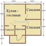 План дома 6х7