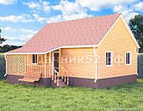 Каркасный дом 6х9 родник 3 изменённый