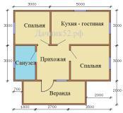План дома 6х8 Новинки