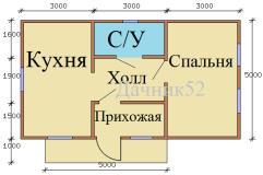 План дома 5х9