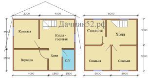 План дома 6х7 Владимирский