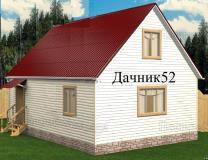 Каркасный дом 5 х 7 с мансардой Аист 15